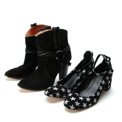 Rebecca Minkoff Ankle Strap Pumps with Stars, Isabel Marant Short Boots