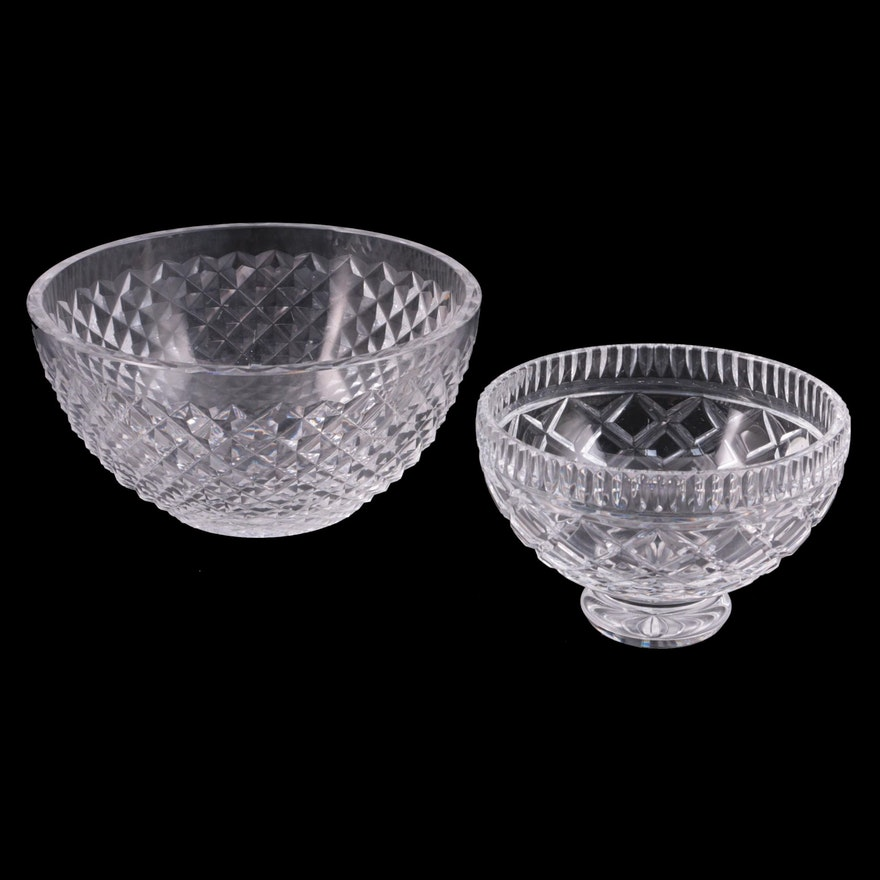 "Waterford Crystal ""Alana"" and ""Killeen"" Bowls"