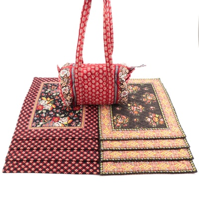 Vera Bradley Top Handle Bag and 8 Placemats of Two Patterns