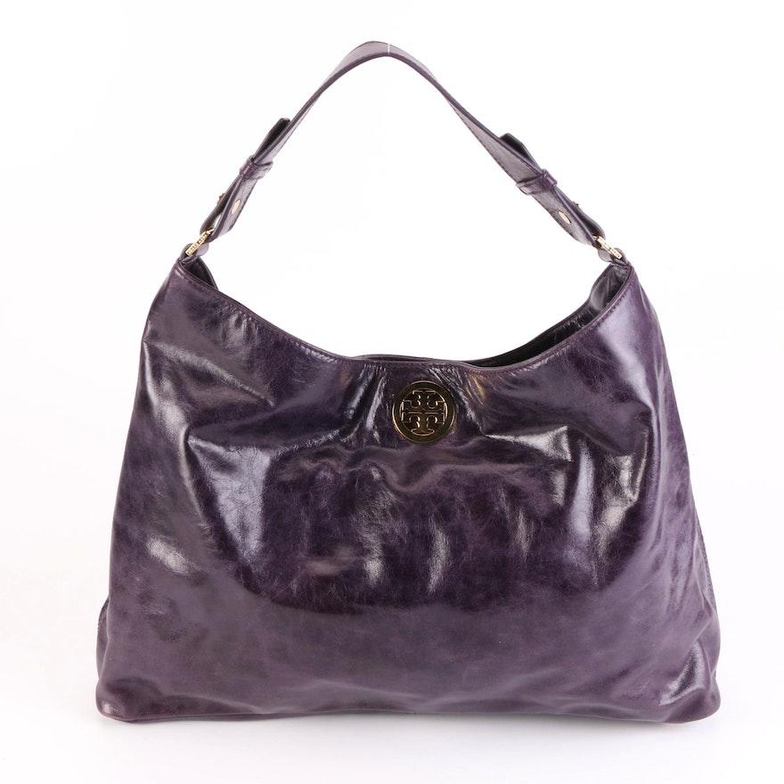 Tory Burch Purple Leather Shoulder Bag