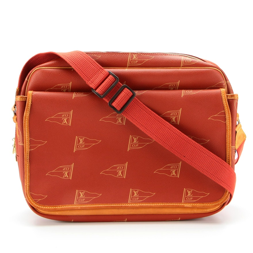 Louis Vuitton Calvi Messenger Bag for the 1995 America's Cup with Whale Lock