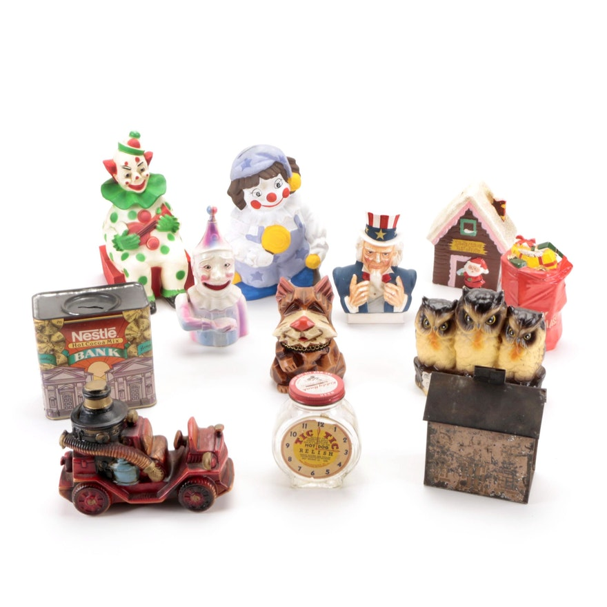 Santa International, National Pottery Co. and Other Novelty Coin Banks