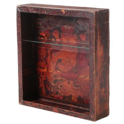 Sino-Tibetan Polychrome-Lacquered Pine Cabinet