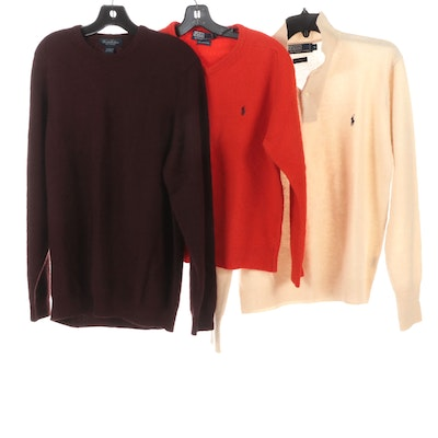 Men's Brooks Brothers and Polo Ralph Lauren Sweaters in Lambswool and Cashmere