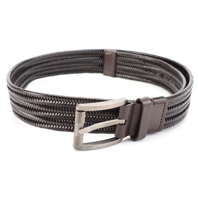 Salvatore Ferragamo Woven Leather Belt