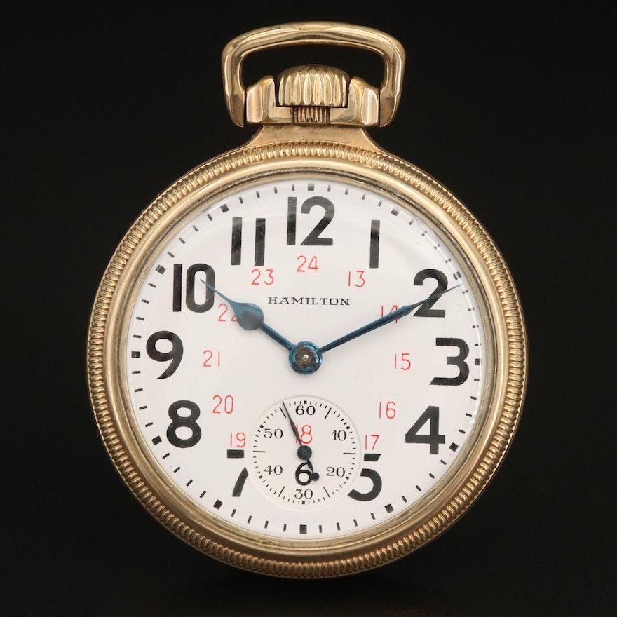 1949 Hamilton 10K Gold Filled Railroad Grade Pocket Watch