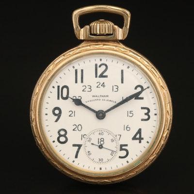 1942 Waltham Vanguard 10K Gold Filled Railroad Grade Pocket Watch