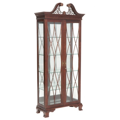 Federal Style Mahogany Display Cabinet, Late 20th to 21st Century