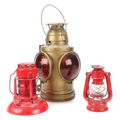 Handlan C & ORY, Winged Wheel and Dietz Traffic Gard Lanterns