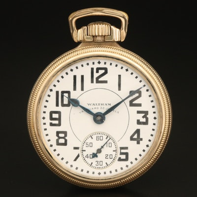 1932 Waltham Vanguard Gold Filled Railroad Grade Pocket Watch