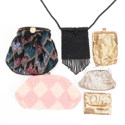 Whiting & Davis Silver Tone Mesh Frame Bag with Other Mesh and Beaded Bags