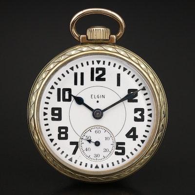 1941 Elgin B.W. Raymond Gold Tone Railroad Grade Pocket Watch