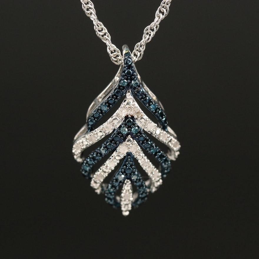 Diamond Openwork Pendant Necklace