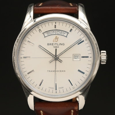 Breitling Transocean Automatic Day/Date Wristwatch