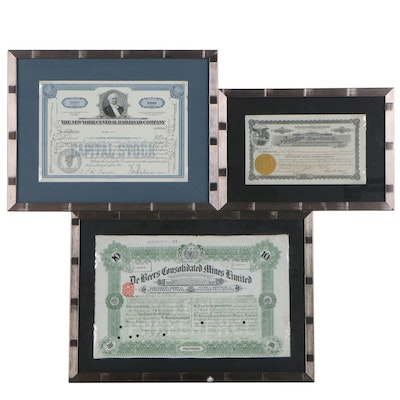 Railroad, Mine, and Burial Casket Stock Certificates, 1910s