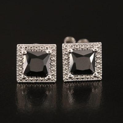 Stering Cubic Zirconia Stud Earrings