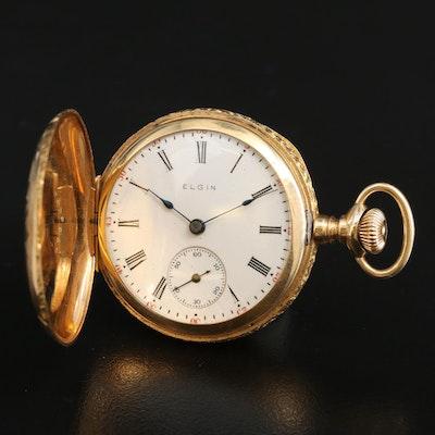 1910 Elgin 14K Hunting Case Pocket Watch