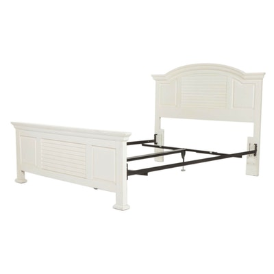 White Painted Convertable Full/Queen Size Bed Frame