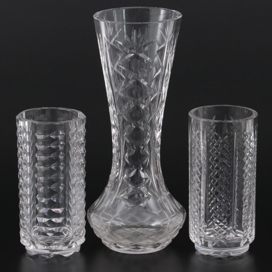 """Waterford Crystal """"Giftware"""" and Other Flower Vases"""