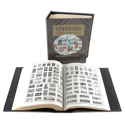 Two H.E. Harris Standard World Stamp Albums