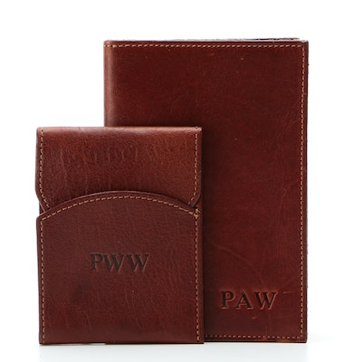 Col. Littleton Pocket Journal and Card Case in Leather