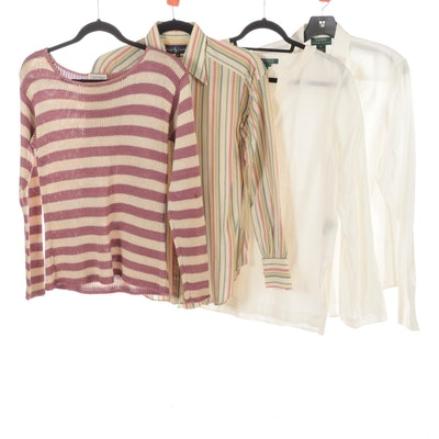 Lauren Ralph Lauren, Ralph Lauren, and Calvin Klein Shirts, Sweater, and Tunic