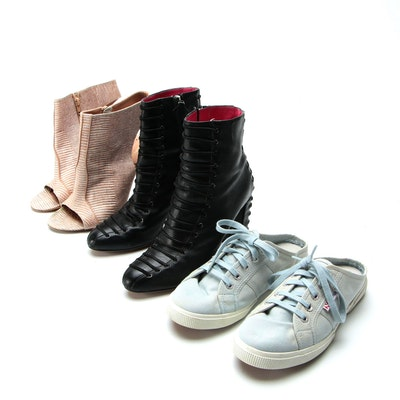 Oscar Tiye Ankle Boots, Jean-Michel Cazabat Ophelia Booties and Superga Sneakers