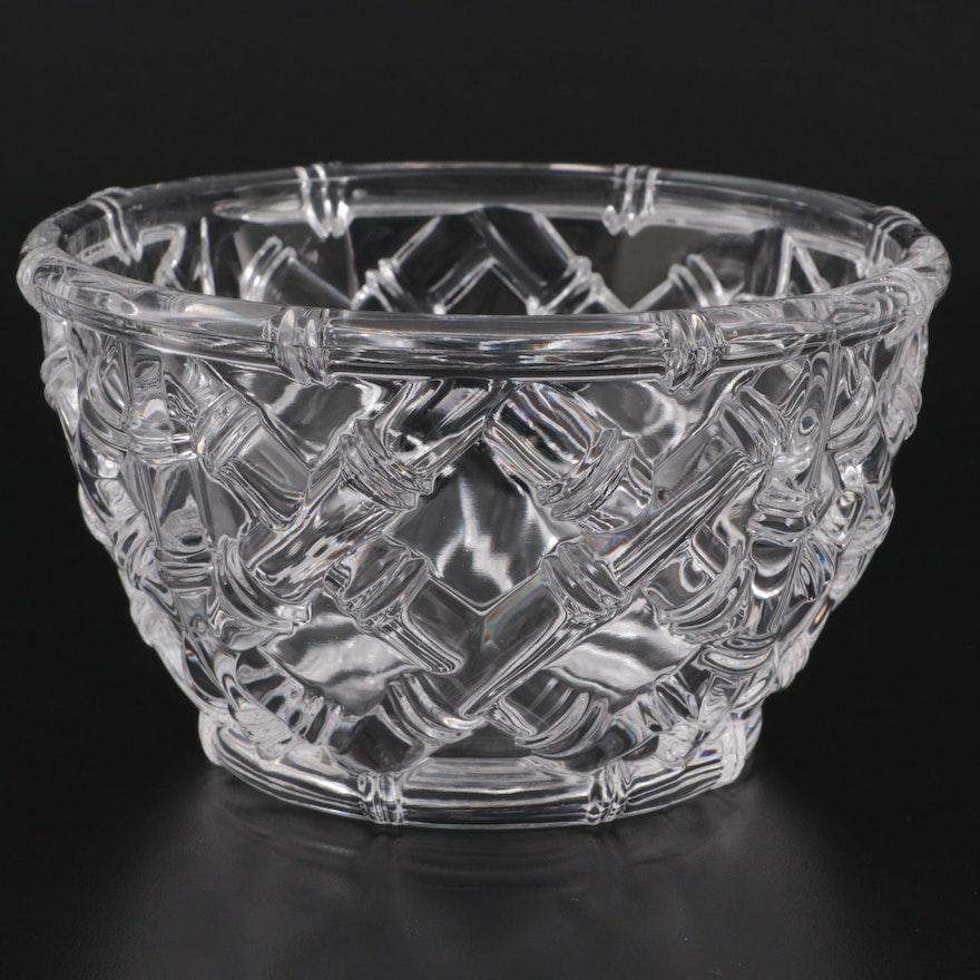 "Tiffany & Co. Crystal ""Bamboo"" Bowl, Late 20th Century"