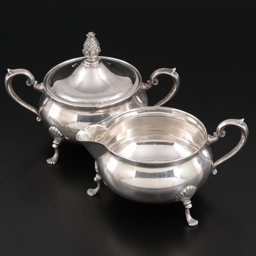 M. Fred Hirsch Co. Sterling Silver Creamer and Sugar, Early/Mid 20th Century