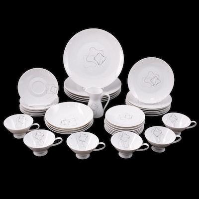 "Rosenthal ""Linear"" Porcelain Dinnerware Designed by Raymond Loewy"