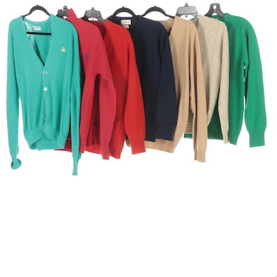 Men's Brooks Brothers, Pringle, Paul Stuart and Other Wool and Cashmere Sweaters