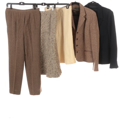 Ralph Lauren Jacket and Pants with Perry Ellis Skirt and Other Blazer