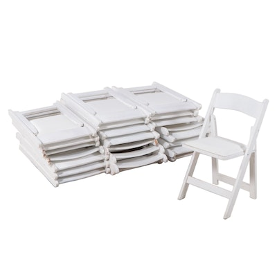 Palmer/Snyder Furniture Event Style White Wooden Folding Chairs