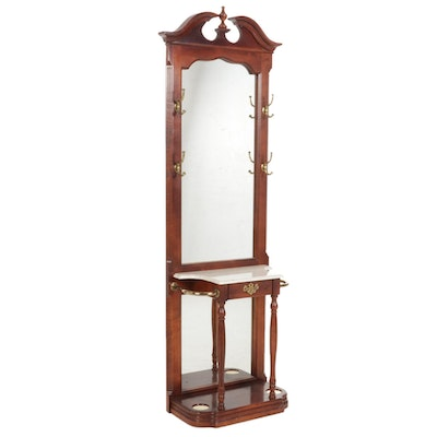 Federal Style Walnut Entry Table and Mirror
