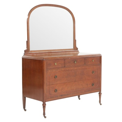 Mahogany Dresser and Mirror, Early to Mid 20th Century