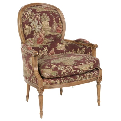 Sherrill Louis XVI Style Upholstered Armchair