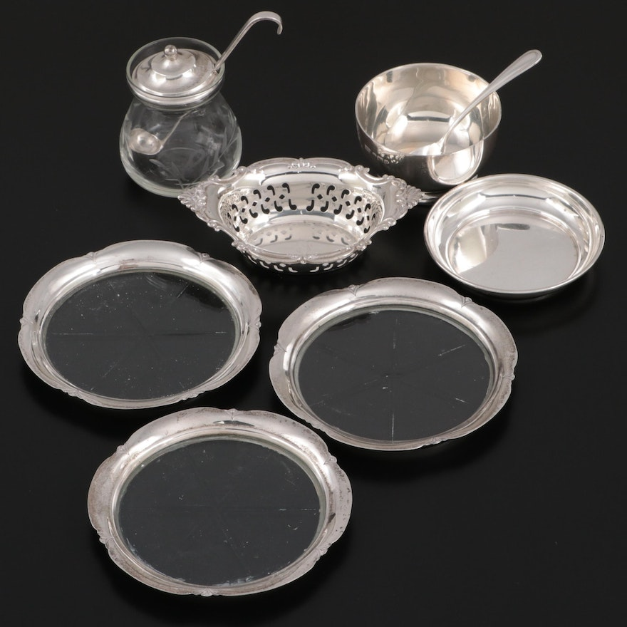 Gorham, Webster, and Other Sterling Silver Table Accessories
