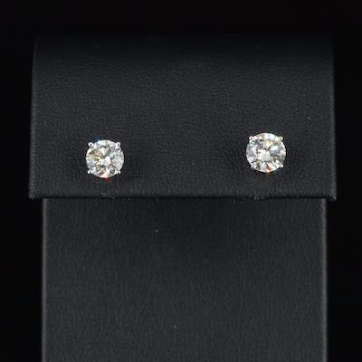 14K 1.76 CTW Diamond Stud Earrings