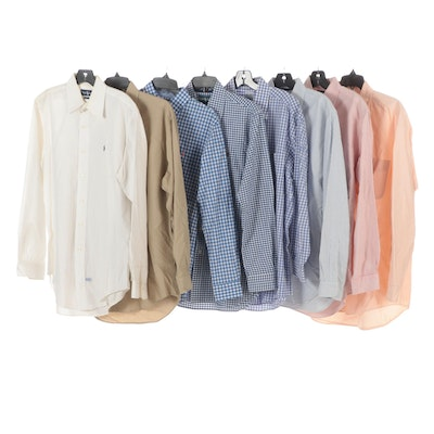 Men's Ralph Lauren and Brooks Brothers Long-Sleeve Shirts