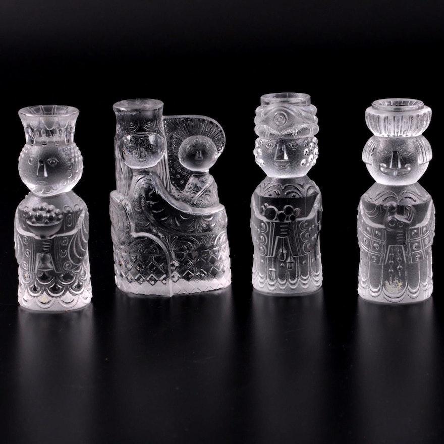 Bjorn Wiinblad for Rosenthal Studio Line Crystal Nativity Candle Set, 1970s