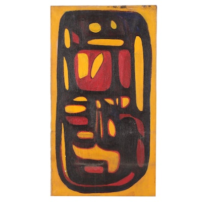 Bernice Fisher Stacy Abstract Oil Painting, Mid-20th Century