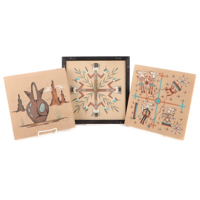 Navajo Sand Paintings and Clock