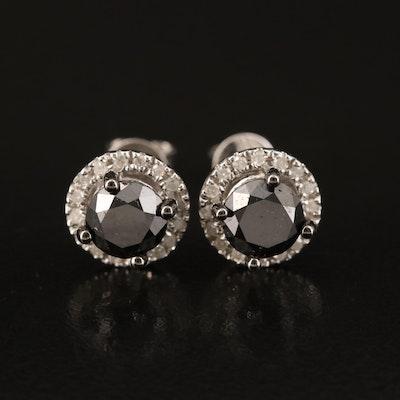 Sterling 2.00 CTW Diamond Stud Earrings