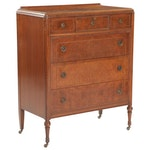Louis XVI Walnut Chest of Drawers, Early to Mid 20th Century