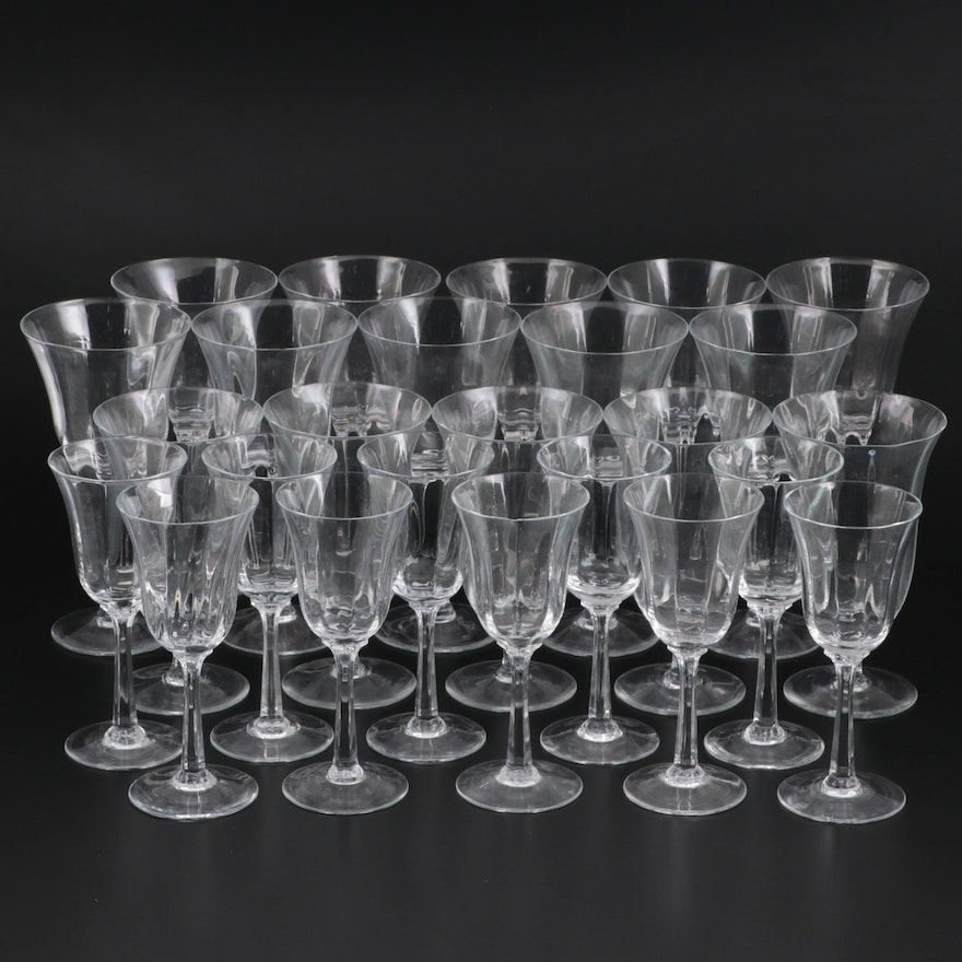 """Lenox """"Allure """" Optic Water Goblets, Wine and Iced Tea Glasses"""