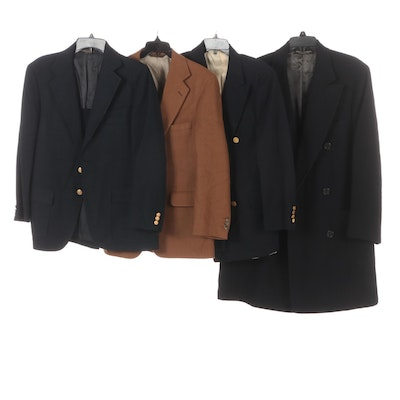 Men's Brooks Brothers, Huntington and More Single and Double Breasted Coats