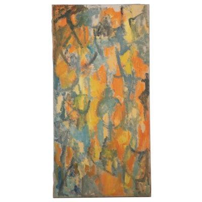 """Bernice Fisher Stacy Large-Scale Oil Painting """"Come Around Again"""""""