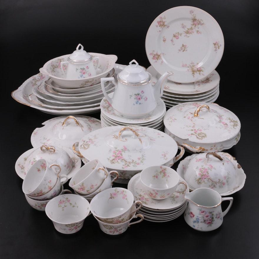 Haviland Limoges Pink Rose Spray and Other Porcelain Tableware