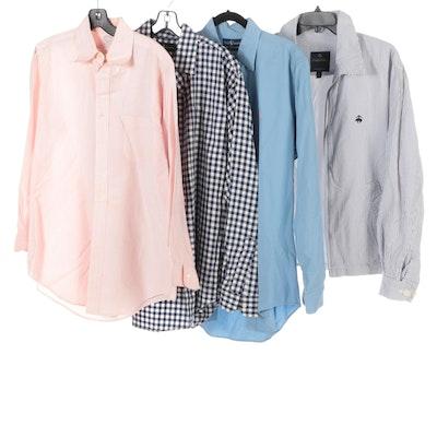 Men's Brooks Brothers and Ralph Lauren Button Down Shirts and Seersucker Jacket