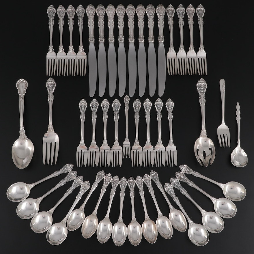 """Gorham """"King Edward"""" and Other Sterling and Silver Plate Utensils"""